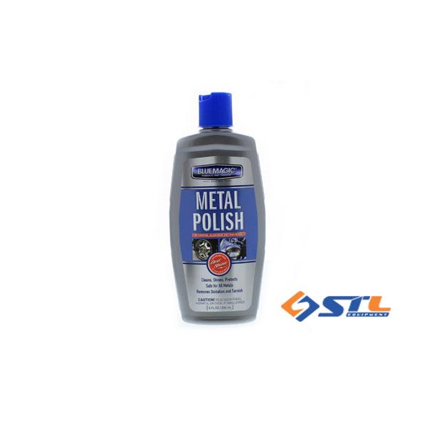 Dung dich danh bong kim loai chrome nhom inox blue magic metal polish 237ml