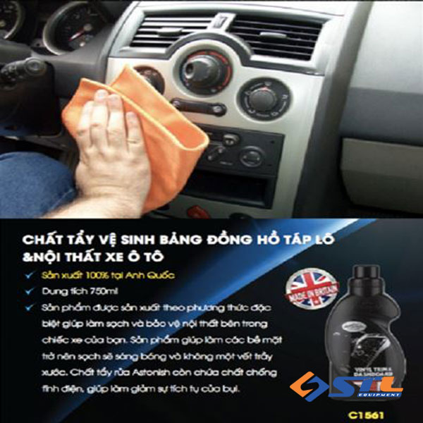 Chai đánh bóng nhựa Astonish Vinyl Trim & Dashboard Cleaner C1561