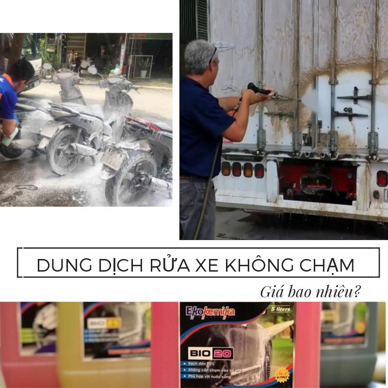 nuoc rua xe khong cham gia bao nhieu