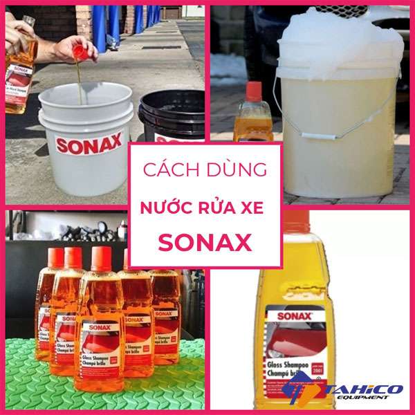 cach dung nuoc rua xe sonax