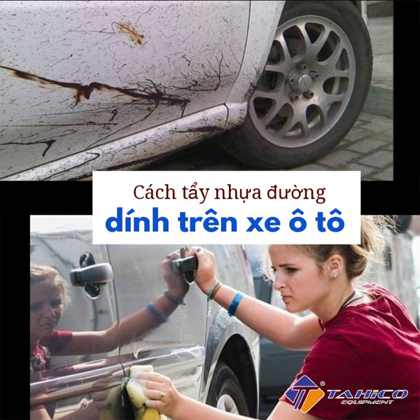 cach tay nhua duong dinh tren xe o to